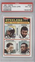 Pittsburgh Steelers Team Leaders [PSA 8]