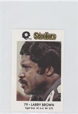 1982 Coca-Cola/Kiwanis Club Pittsburgh Steelers #79 - Larry Brown