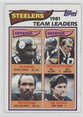 1982 Topps - [Base] #202 - Pittsburgh Steelers Team