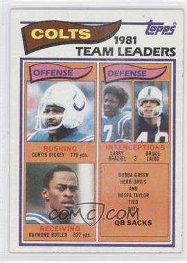 1982 Topps #10 - Baltimore Colts Team