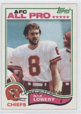 1982 Topps #120 - Nick Lowery