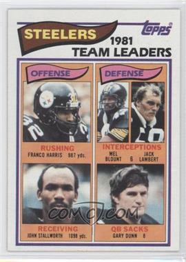 1982 Topps #202 - Pittsburgh Steelers Team