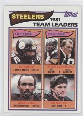 1982 Topps #202 - Pittsburgh Steelers Team