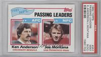 1981 NFL Passing Leaders (Ken Anderson, Joe Montana) [PSA 9 (OC)]