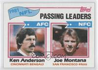 1981 NFL Passing Leaders (Ken Anderson, Joe Montana)