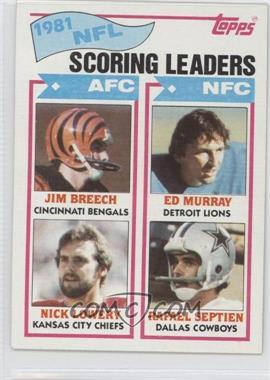 1982 Topps #260 - Nick Lowery, Rafael Septien, Jim Breech, Ed Murray