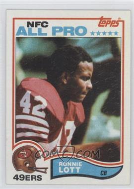 1982 Topps #486 - Ronnie Lott