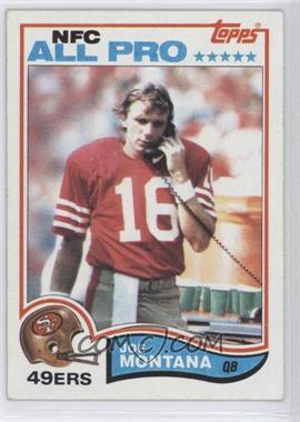 1982 Topps #488 - Joe Montana