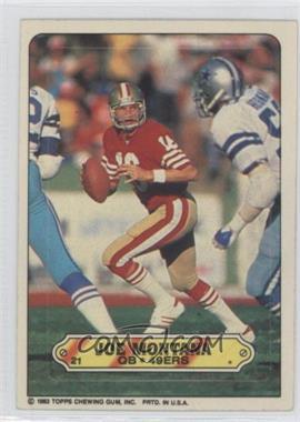 1983 Topps Stickers #21 - Joe Montana