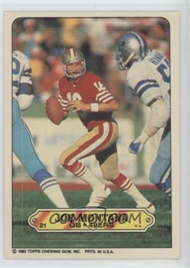 1983 Topps Stickers #21 - Joe Montana