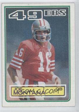 1983 Topps #169 - Joe Montana