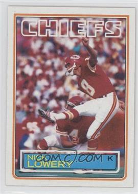 1983 Topps #290 - Nick Lowery