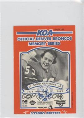1984 KOA Denver Broncos Memory Series Ripped #N/A - Randy Gradishar