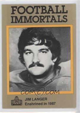 1985-88 Football Immortals - [Base] #141 - Jim Langer