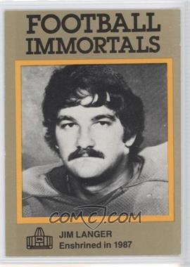 1985-88 Football Immortals #141 - Jim Langer