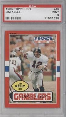 1985 Topps USFL #45 - Jim Kelly [PSA9]