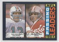 1984 Passing Leaders (Dan Marino, Joe Montana)