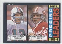 1984 Passing Leaders (Dan Marino, Joe Montana)