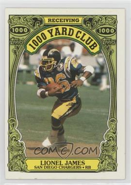 1986 Topps - 1000 Yard Club #24 - Lionel James