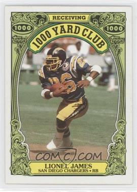 1986 Topps 1000 Yard Club #24 - Lionel James