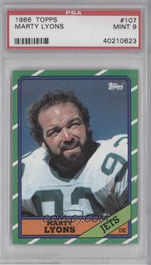 1986 Topps #107 - Marty Lyons [PSA9]