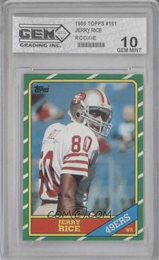 1986 Topps #161 - Jerry Rice [ENCASED]