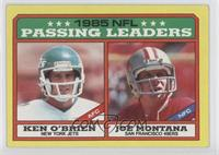 1985 NFL Passing Leaders (Ken O'Brien, Joe Montana)