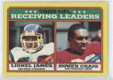 1986 Topps #226 - Lionel James, Roger Craig