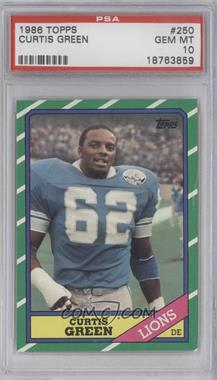 1986 Topps #250 - Curtis Green [PSA10]