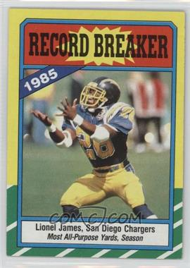 1986 Topps #3 - Lionel James