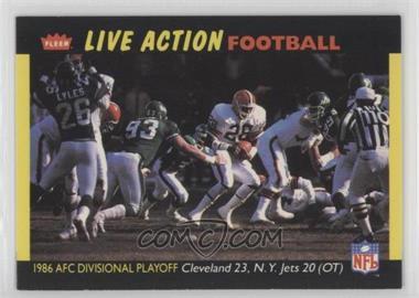 1987 Fleer Live Action Football - [Base] #58 - Cleveland Browns Team