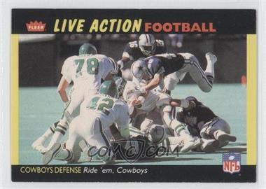 1987 Fleer Live Action Football #12 - Dallas Cowboys Team