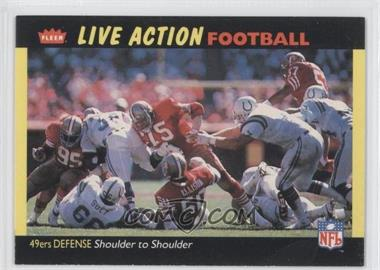 1987 Fleer Live Action Football #50 - San Francisco 49ers Team
