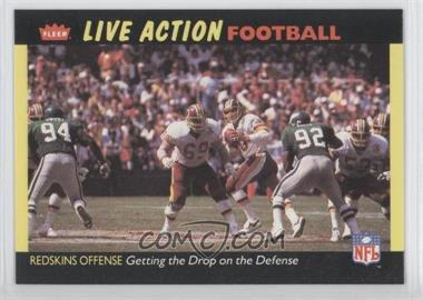 1987 Fleer Live Action Football #55 - Washington Redskins Team
