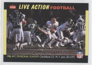 1987 Fleer Live Action Football #58 - Cleveland Browns Team