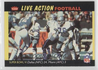 1987 Fleer Live Action Football #70 - Dallas Cowboys Super Bowl
