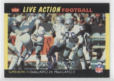 1987 Fleer Live Action Football #70 - Dallas Cowboys Team