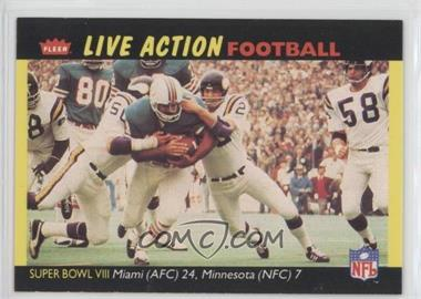 1987 Fleer Live Action Football #72 - [Missing]