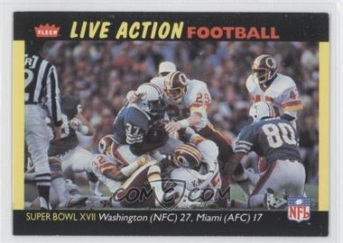 1987 Fleer Live Action Football #81 - Washington Redskins Team
