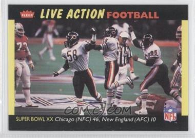 1987 Fleer Live Action Football #84 - [Missing]