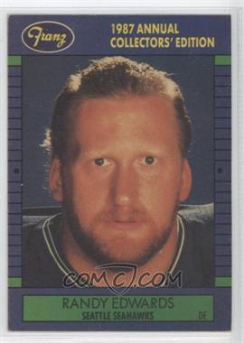 1987 Franz Seattle Seahawks - [Base] #3 - Randy Edwards
