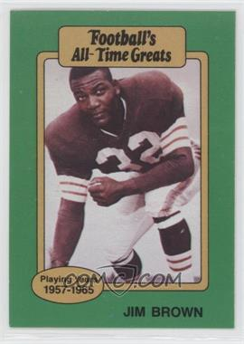 1987 Hygrade Football's All-Time Greats - [Base] #JIBR - Jim Brown