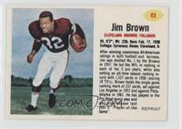 Jim Brown 1962 Post