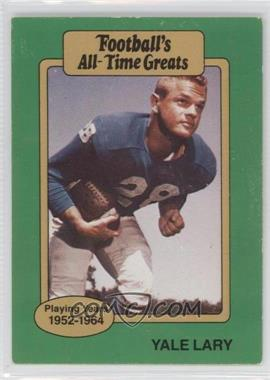 1987 Hygrade Football's All-Time Greats #N/A - Yale Lary