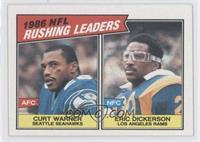 1986 NFL Rushing Leaders (Curt Warner, Eric Dickerson)
