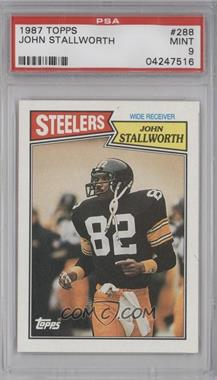 1987 Topps - [Base] #288 - John Stallworth [PSA 9]