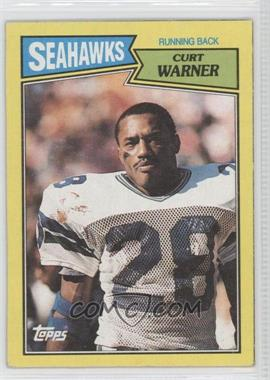 1987 Topps - Box Bottoms #O - Curt Warner