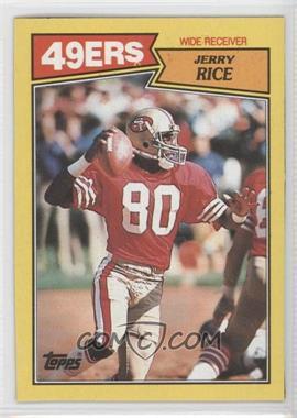 1987 Topps Box Bottoms #K - Jerry Rice