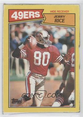 1987 Topps Box Bottoms #K - Jerry Rice