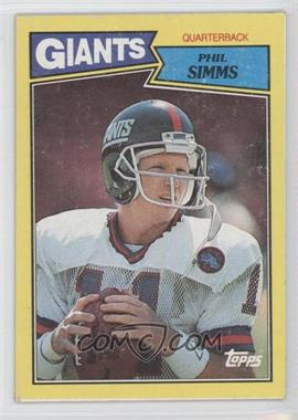 1987 Topps Box Bottoms #L - Phil Simms